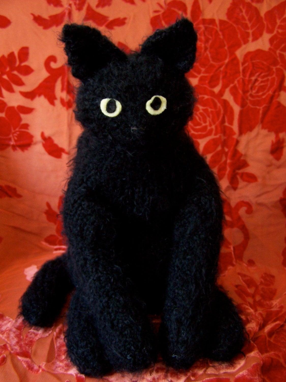 fabulous flexible feline stuffed toy black cat. Black Bedroom Furniture Sets. Home Design Ideas