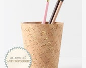 Metallic Cork Pencil Cup