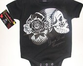 nwt black infant bodysuit or toddler of lady skull drop dead gorgeous