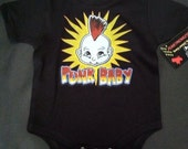 NWT black bodysuit or toddler tee of punk baby