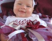 Texas A&M Gig Em Aggies Tutu set  Custom Listing for Janet Sample only please