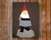 Mister Gnome 8 x 10 quilt block pattern