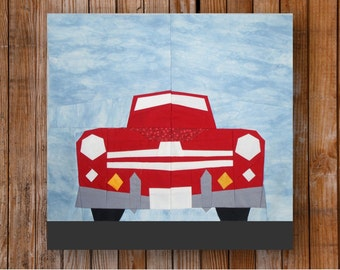 1948 Ford Super Deluxe Convertible 12 x 12 Quilt Block Pattern