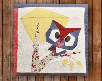 Peeping Owl 12 x 12 Quilt Block Pattern