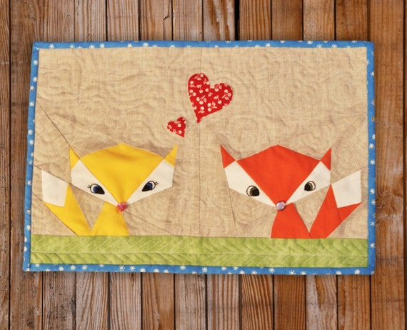 Lil Fox Quilt Block pattern