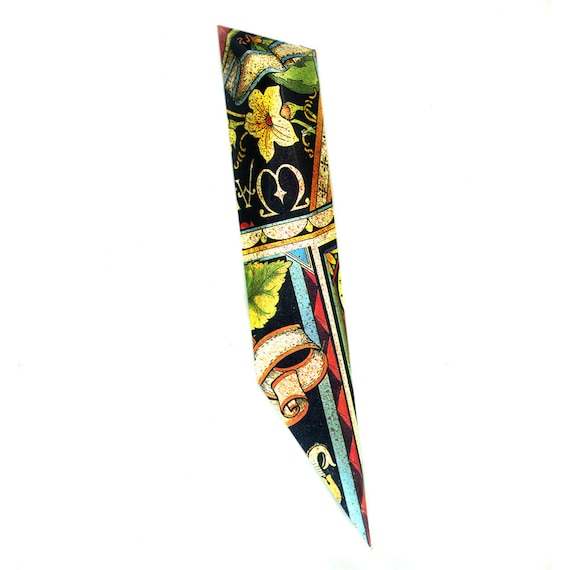Mezuzah Yellow Lily Flower with Scroll Doorpost with Multiple Patterns.