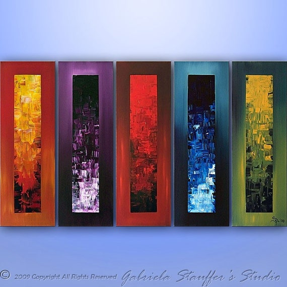"""Abstract Painting,  Large Painting, Wall Art, Wall Decor, Canvas Art, Large painting, Art by Gabriela, Acrylic Painting, 50"""" Made To Order"""