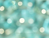 Abstract Photography Print Pastel Green Turquoise Blue Green Teal Mint Sparkle Wall Art Home Decor 5x5