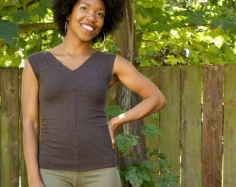 Stretchy Hemp and Organic Cotton Remnant Top
