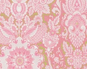 Griffin Pink with a touch of Lime Green Fabric - By the Yard