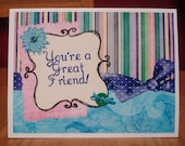 You're a Great Friend - cardy by MyStampHabit