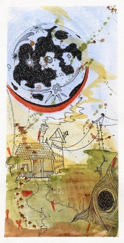 Moon Shack Watercolor - Print