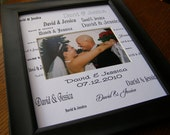 David and Jessica Custom Name with Date 8 x 10 Photo Mat Cust 2