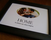 Home Is Where Our Story Begins 8 x 10 Picture Photo Mat Design M17