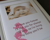 Baby Girl Footprints 8 x 10 Picture Photo Mat Design M2