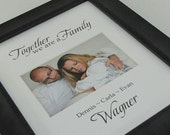 Together We Are A Family 8 x 10 Custom Picture Photo Mat Design Custom 4