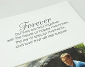 Forever Our Lives Are Tied Together Designer 8 x 10 Picture Photo Mat Design M62