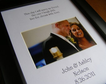 This Day I Will Marry with Custom Names and Date 8 x 10 Picture Photo Mat Design Cust 8