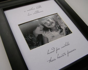 A Mother Holds Her Childrens Hands  8 x 10 Picture Photo Mat Design M18