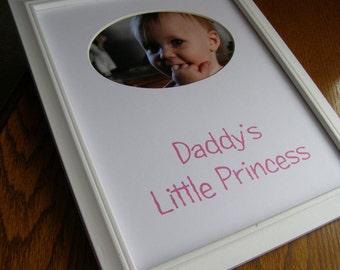 Daddy's Little Princess 8 x 10 Picture Photo Mat Design M9