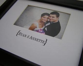 Ryan & Annette 8 x 10 Custom Word Picture Photo Mat Design C1