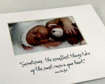 Sometimes The Smallest Things Photo Mat Design M32
