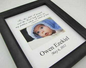 For this child I prayed Custom  8 x 10 Photo Mat Design Cust 18