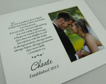 Love is Patient Wedding Picture Custom 8 x 10 Photo Mat Design Cust 17