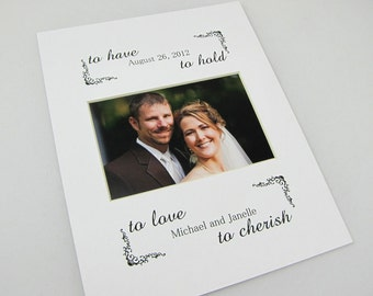 To Have and To Hold Custom 8 x 10 Photo Mat Design Cust 19