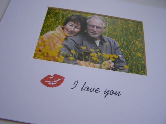 Hot Red Lips I Love You 8 x 10 Photo Mat Design M30