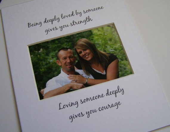 Being Deeply Loved 8 x 10 Picture Photo Mat 50