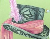 Mad Hatter no.1 Orig. Colored Pencil-Print
