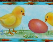Easter Eggs Spring Chicks Original  Candle Wrap