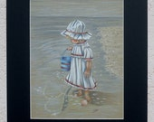 Little Girl at the Beach Colored Pencil