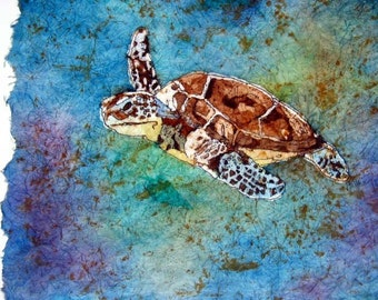 Turtle Batik Watercolor