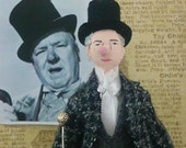 W.C. Fields Doll Miniature Comedian Art Collectible