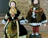 Tudor Art Dolls Mary Tudor and Charles Brandon Duke of Suffolk Historical Collectibles