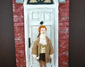Thomas Jefferson Doll Miniature Historical Americana Wall Hanging Plaque