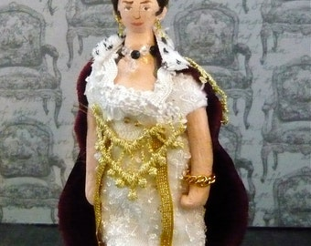 Josephine Bonaparte Historical Doll Miniature Empress of France