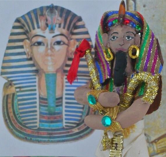 Eqyptian Art Doll King Tut Historical Figure