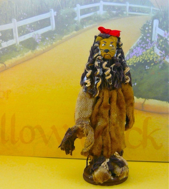 Cowardly Lion Doll Wizard of Oz Miniature Art