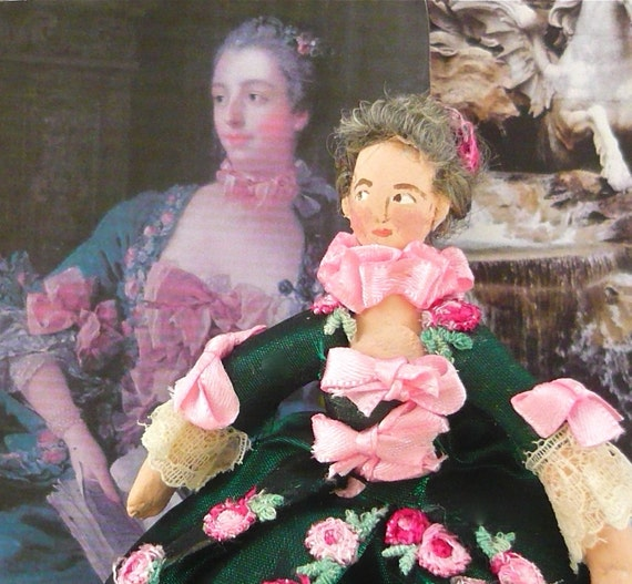 Madame Pompadour Doll Miniature French History Art Collectible