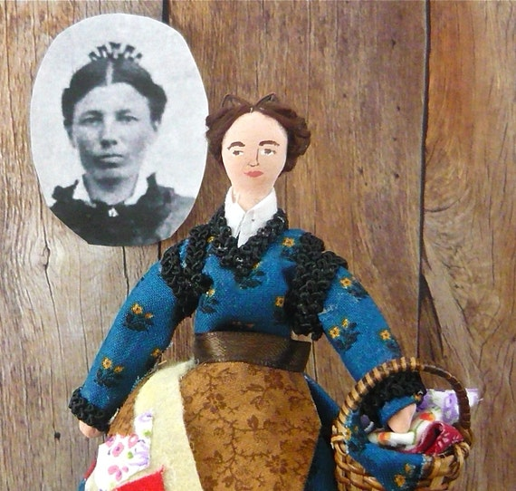 Pioneer Doll Caroline Ingalls Historical Miniature Art Collectible Little House on the Prairie
