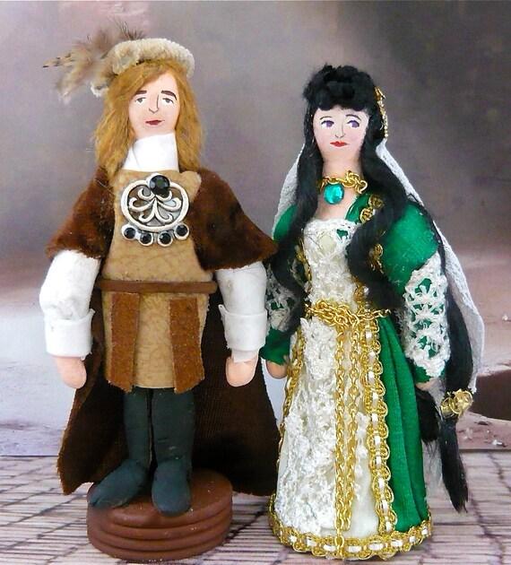Romeo and Juliet Art Dolls Shakespeare Miniature