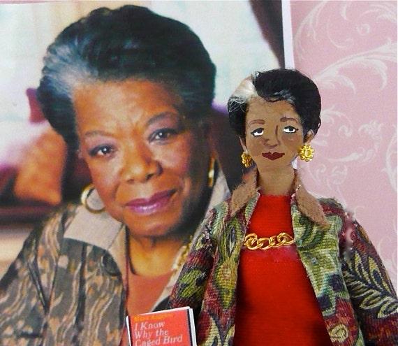 Doll Miniature Maya Angelou - Poet and Writer