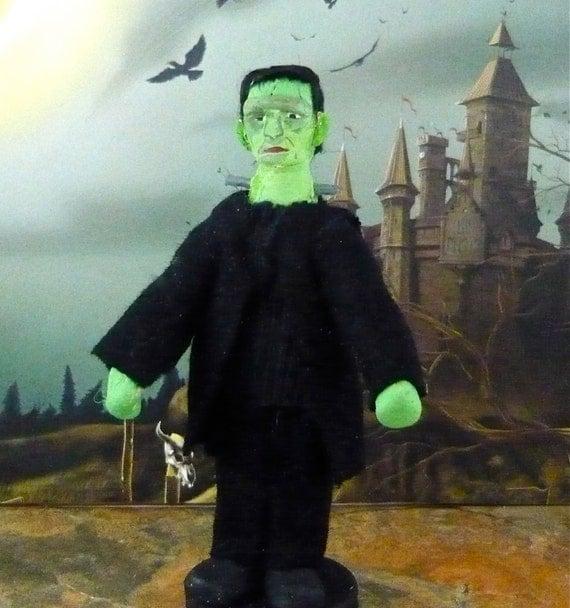 Frankenstein Art Miniature Horror Movie Doll Collectible