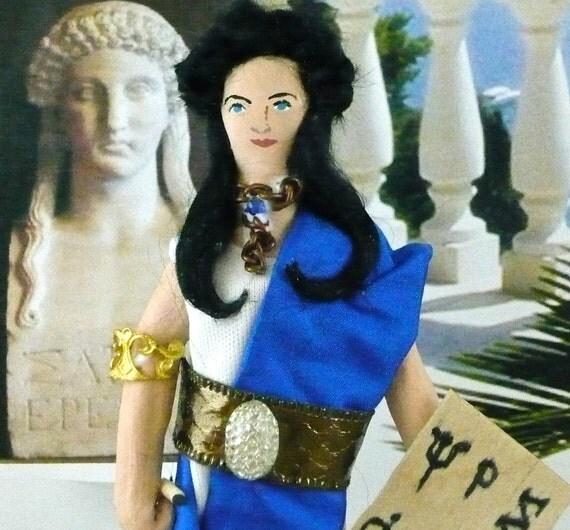 Sappho the Greek Poet Doll Miniature Art