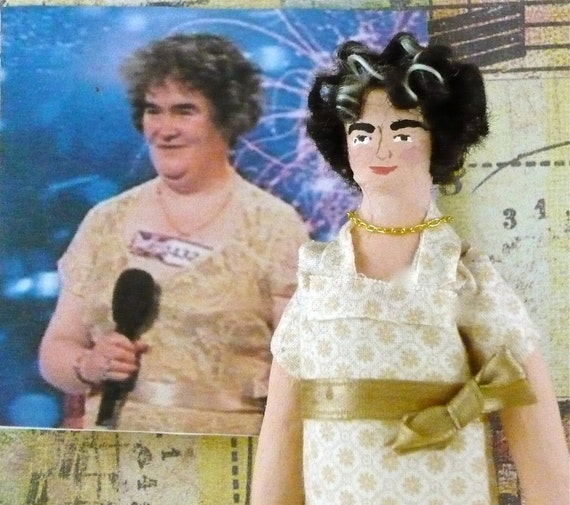 Susan Boyle Doll As Seen on the Today Show Art  Miniature