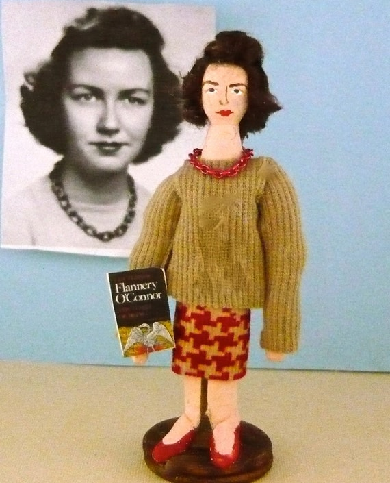 Author Doll Flannery O' Conner Miniature Literary Collectible