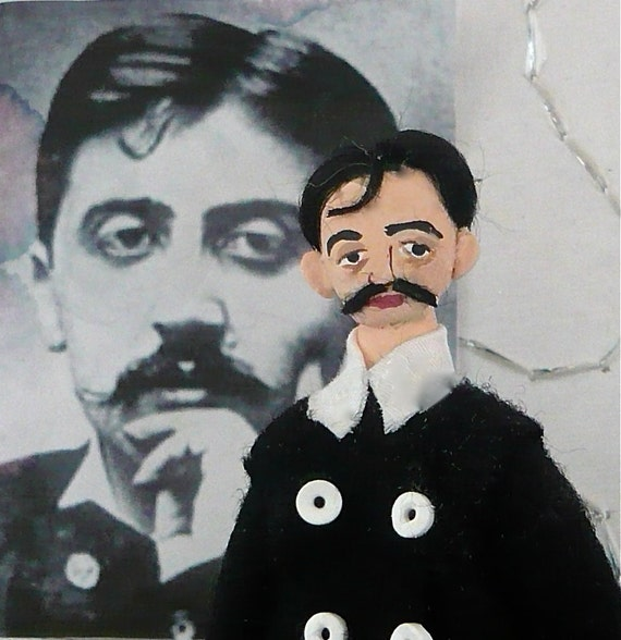 Marcel Proust Doll French Author Art Character Collectible Miniature